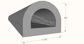 CAD for Gasket Profile D-foam